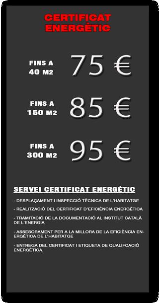 Certificat Eficiència Energètic